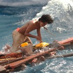 Life of Pi at sea on raft